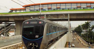 Ilustrasi rangkaian MRT Jakarta