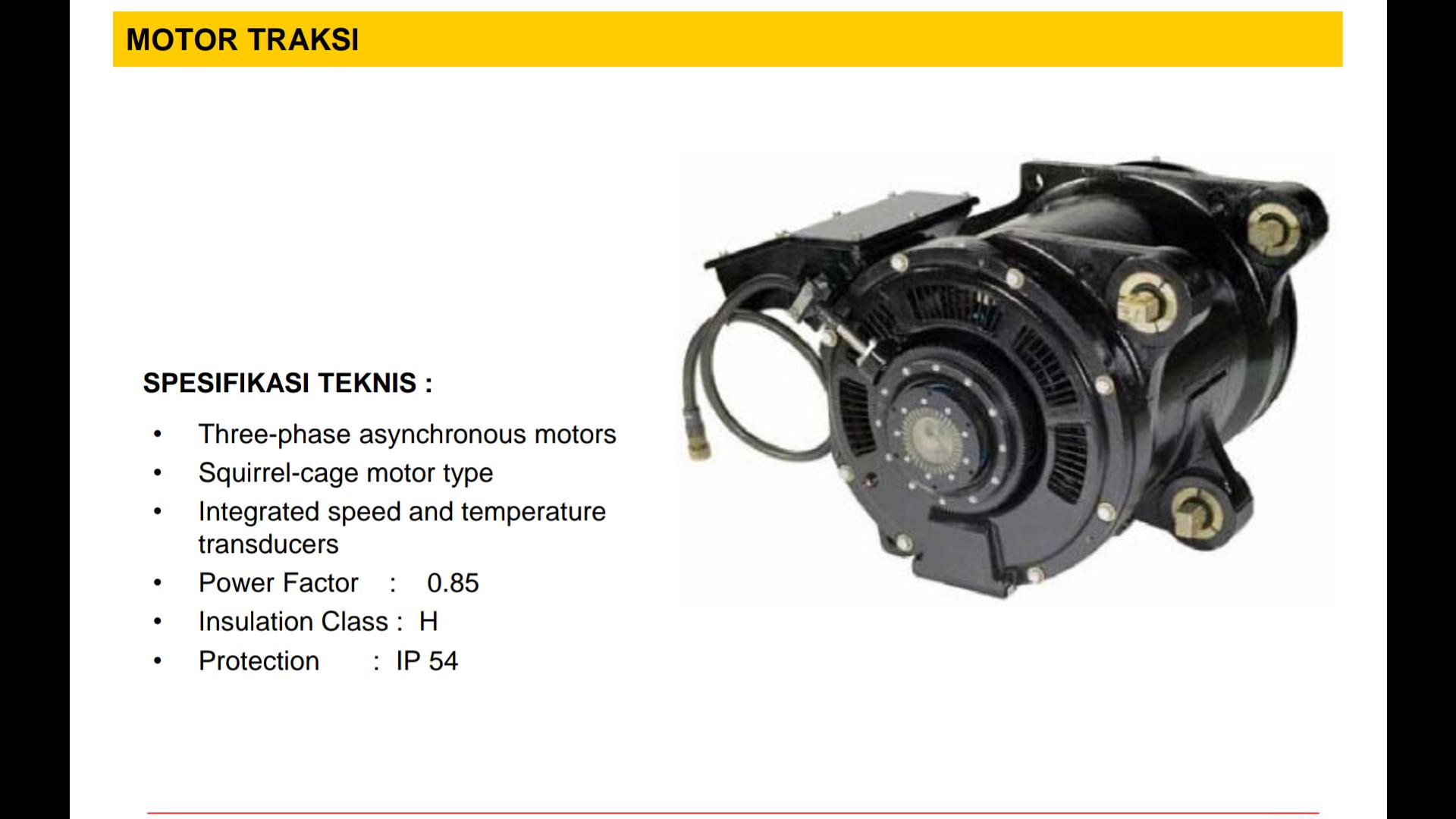 Motor Traksi MITRAC DR1500│ Sumber : PT INKA