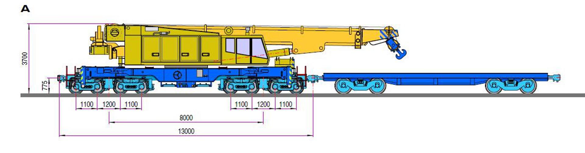 Gambar Teknis Kirow KRC 800N │ Sumber : PT KAI