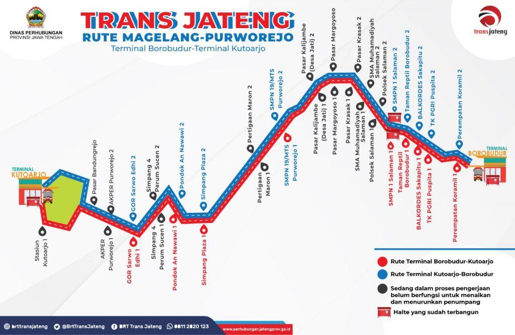 Peta rute TransJateng