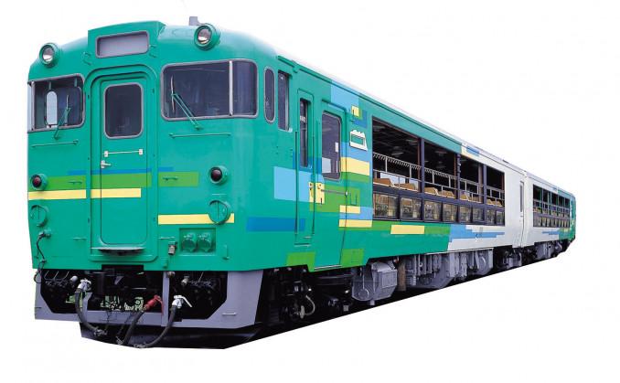 Tampak rangkaian KRD wisata Jalur Kamaishi