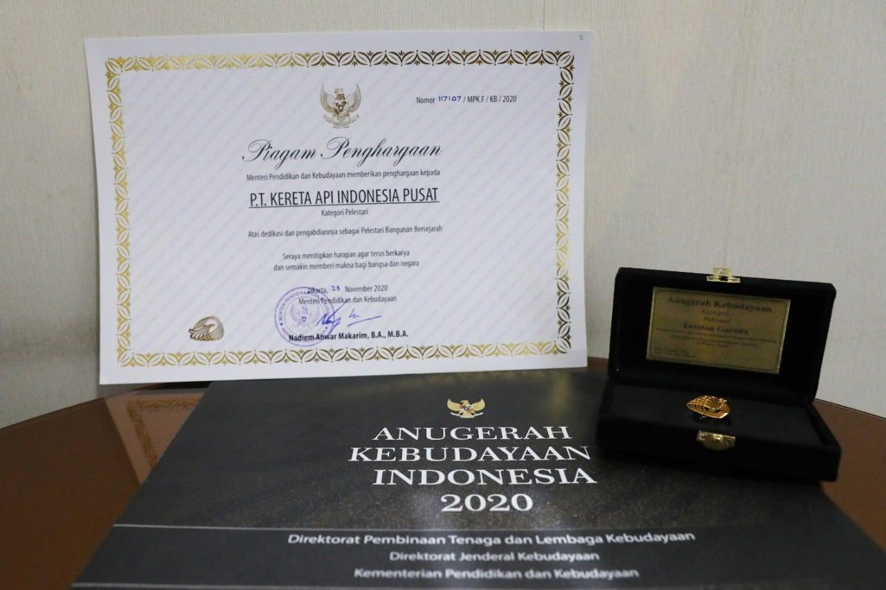 penghargaan anugerah kebudayaan indonesia pelestari kai