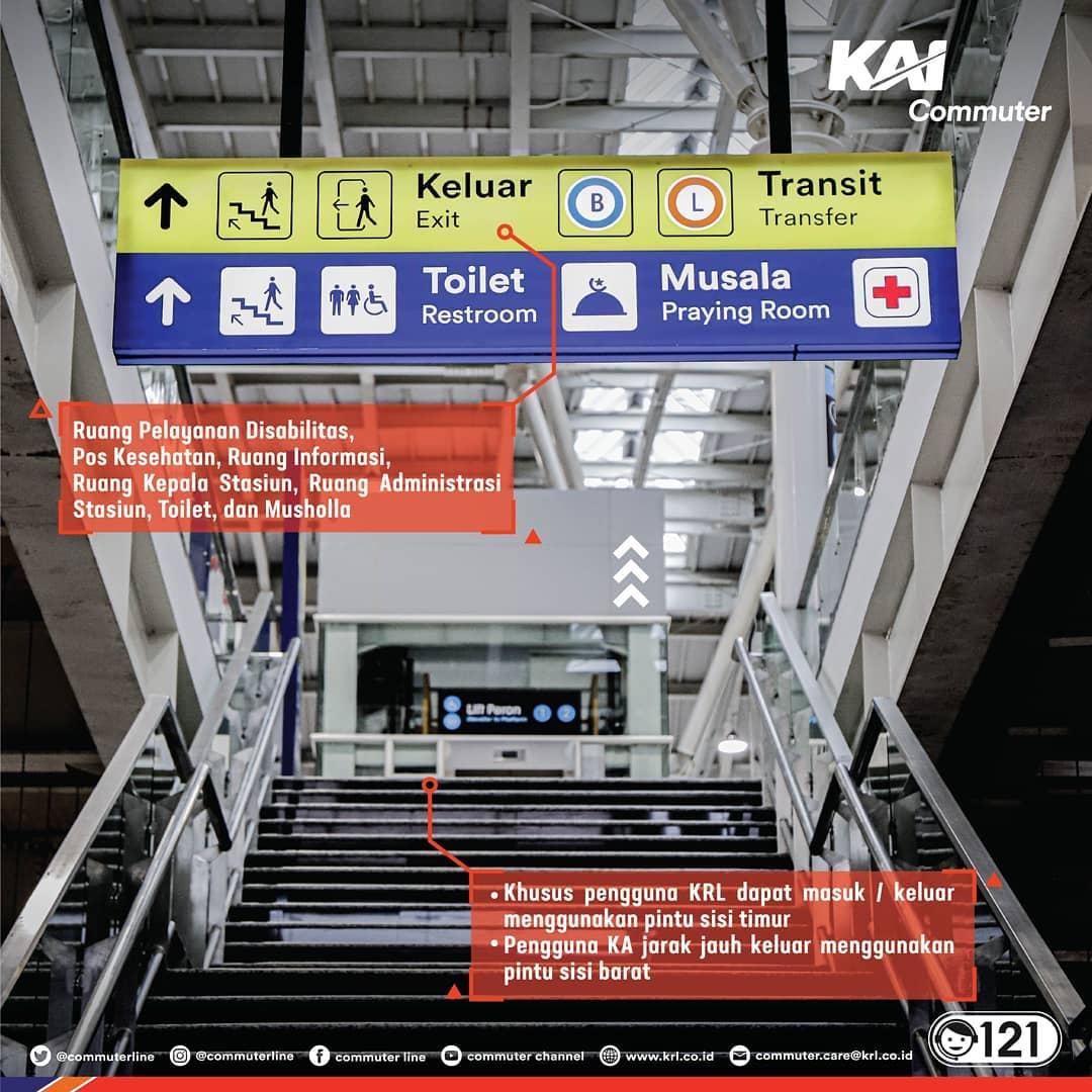 signage format baru Stasiun Jatinegara