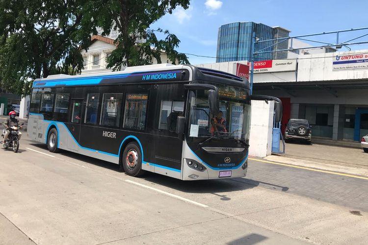 bus listrik Higer KLQ6125EV