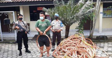 Pelaku penggelapan kabel KRL Yogyakarta-Solo