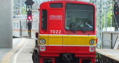 Ilustrasi moda transportasi KRL