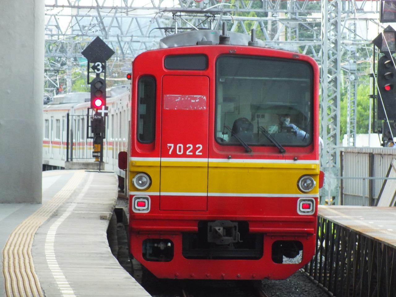 KRL seri 7000 7122F tanpa teralis