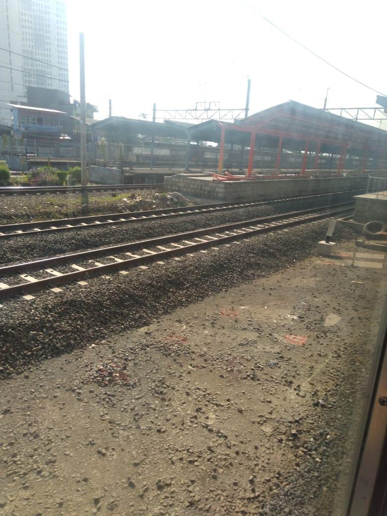 Peralihan jalur Stasiun Bekasi