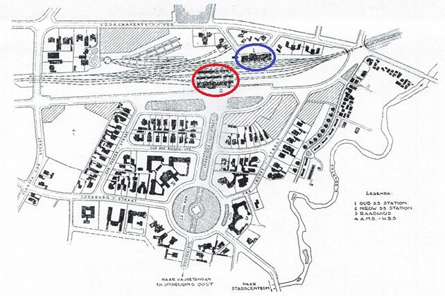 Peta lokasi Stasiun Malang
