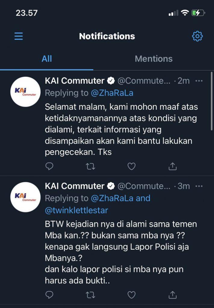 Balasan aduan KAI Commuter