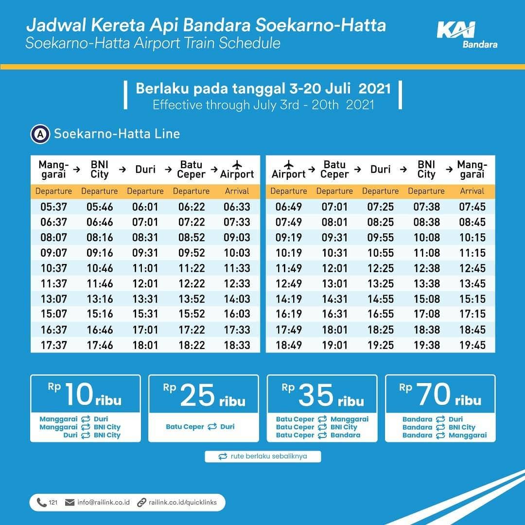 Jadwal KAI Bandara Soekarno-Hatta