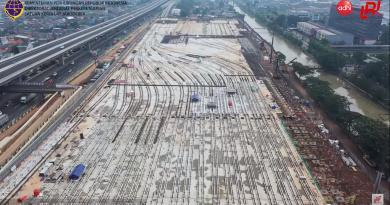 Pembangunan depo LRT